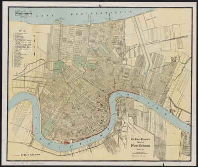 Times-Picayune Map of New Orleans, 1919.